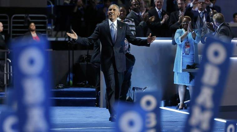 Barack Obama, Obama, DNC, Democratic national convention, oBama at DNC, HIllary clinton, clinton, obama clinton, donald trump, trump, obama slams trump, obama praises hillary, US, United states, US elections, US presidential election 2016, US presidential elections, US polls, TIm Kaine, Joe Biden, Biden, Bloomberg, uS news, world news