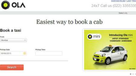 Now book Ola cabs using Via.com app, website