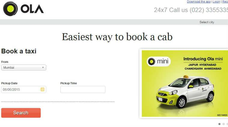 ola, ola cabs, ola bookings, ola app, ola cabs partnership, via.com