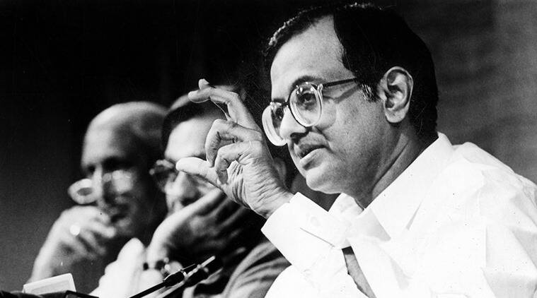 P Chidambaram, the then finance minister, addresses a press conference in New Delhi on June 21, 1997, four months after presenting his 'dream budget'. (Source: PTI)