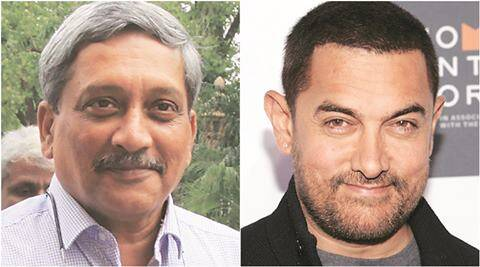 manohar parrikar, aamir khan, aamir khan intolerance remark, parrikar aamir intolerance remark, ramnath goenka awards, rng awards aamir khan, AFSPA, parrikar AFSPA, parrikar kashmir, india news, latest news