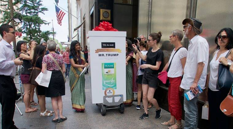 Pic 1 TE-A-ME teas delivery at Trump Towers (2)