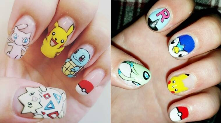 Because Its Fun How About Some Pokemon Go Nail Art The Indian
