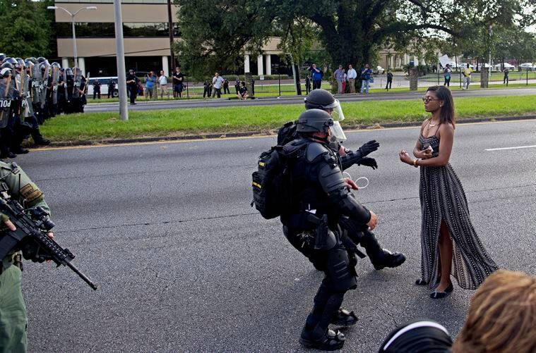 baton rouge protester photograph