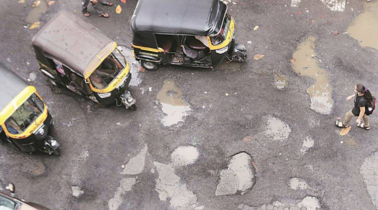 MUMBAI, MUMBAI NEWS, MUMBAI POTHOLES, potholes in mumbai, mumbai waterlogging, ajoy mehta, bmc, congress, mumbai congress, indian express news