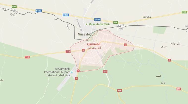 Bombings Kill At Least In Northeast Syria City The Indian Express - Qamishli map