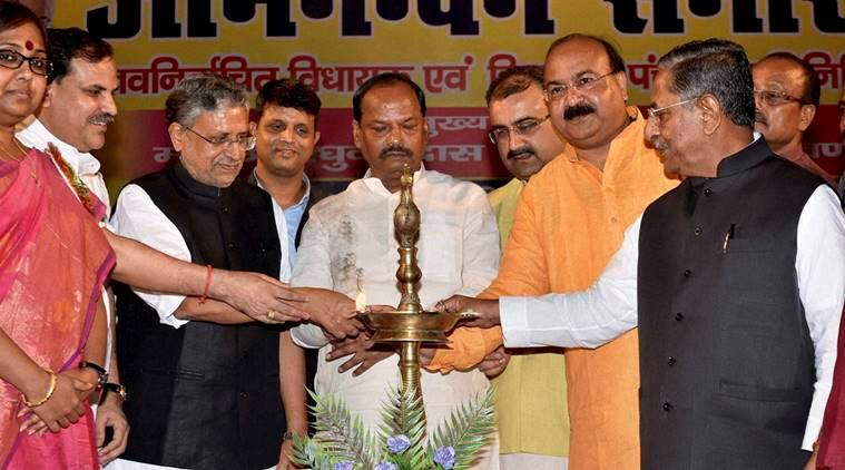jharkhand, Rakhsa Shakti Vishwavidyalaya, raghubar das, droupadi murmu, jharkhand governor, jharkhand CM, jharkhand industrial security force, new university in jharkhand, education news, indian express
