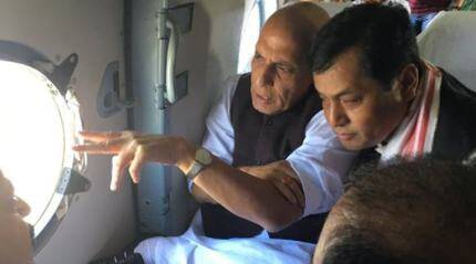 Assam death toll 26; Rajnath Singh makes aerial survey, calls for long-term steps