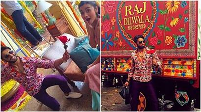 Ranveer Singh gives a 'phool' to 'ladki beauty-phool' Alia Bhatt, see pics