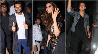 Ranveer, Deepika, Ranbir were busy partying together, see pics