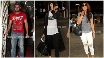 Ranveer Singh enjoys dinner, Mahira Khan, Shriya Saran spotted at the aiport
