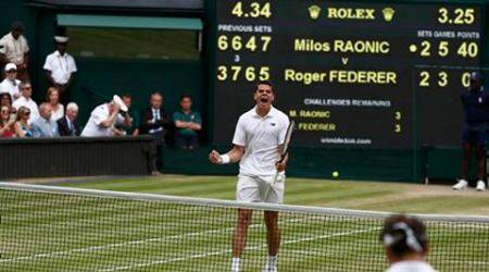 Wimbledon, Wimbledon 2016, Wimbledon 2016 results, Wimbledon 2016 scores, Roger Federer, Federer, Milos Raonic, Federer Raonic score, Federer Raonic, Federer Raonic result, tennis