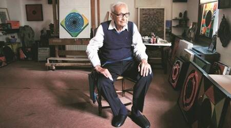 Syed Haider Raza, force of art, never tired of the bindu