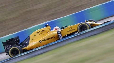 Jolyon Palmer, Jolyon Palmer Renault, Jolyon Palmer Hungarian Grand Prix, Jolyon Palmer points, Hungarian grand Prix, Hungary grand prix, Nico Hulkenberg, Force India, Formula One, motor sport, motor racing
