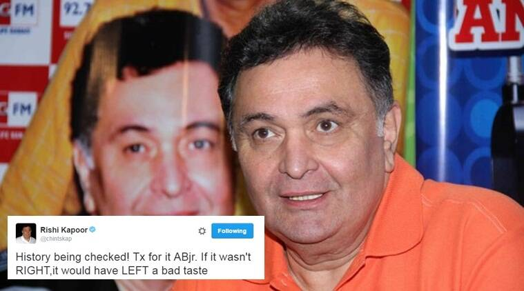 Rishi Kapoor's tweet on Hillary Clinton hasn't gone down well with many