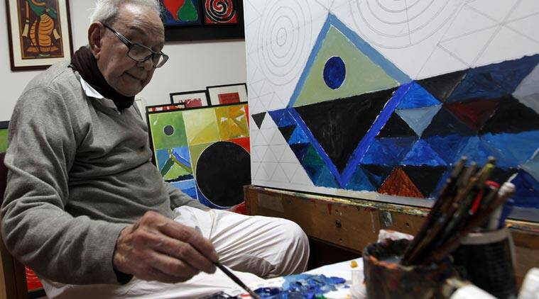 Syed Haider Raza, S H Raza, SH raza, S H raza death, s h raza paintings, s h raza works, s h raza bindu, J J School of Art, S H raza Berkeley University, indian express column,