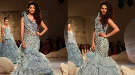 Saiyami Kher, Saiyami Kher model, Gaurav Gupta, Gaurav Gupta collection, Gaurav Gupta designs, Mirzya,FDCI India Couture Week 2016, Rakeysh Omprakash Mehra, scape song, India couture week, Fashion news,