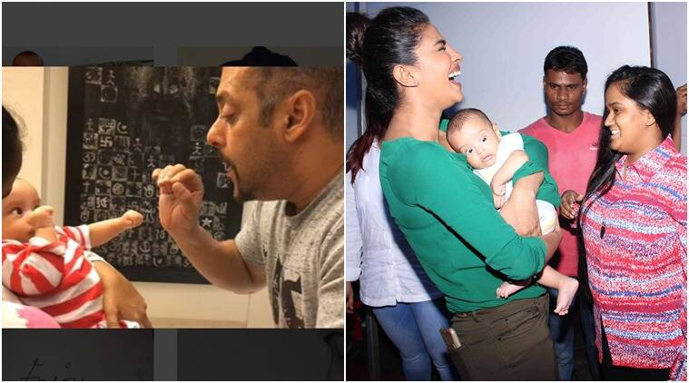 Sultan Salman Khan nephew Ahil certainly had a busy Monday with him and Priyanka Chopra.