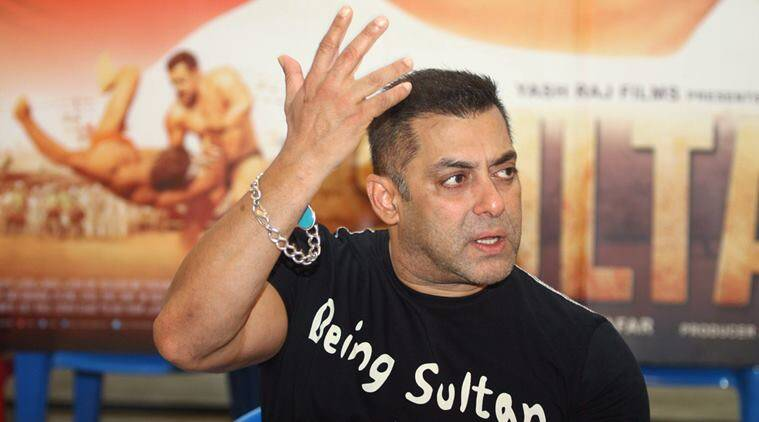 "Mumbai: Bollywood actor Salman Khan at a media interaction for success of ""Sultan"" in Mumbai on Friday. PTI Photo (PTI7_15_2016_000305A)"