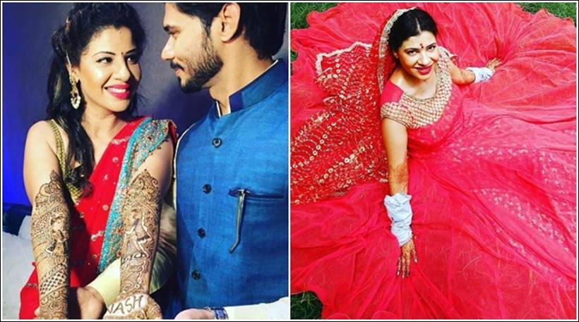 Big Boss contestant Sambhavna ties knot with long-time beau Avinash