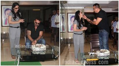 Sanjay Dutt celebrates 57th birthday with family and media, see pics