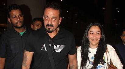 Sanjay Dutt, wife Maanyata with twins Shahraan and Iqra spotted at the aiport