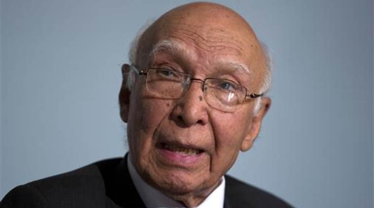 Sartaj Aziz, Sartaj Aziz India, Heart of Asia conference, India Pakistan bilateral meeting, Abdul Basit, news, latest news, India news, national news