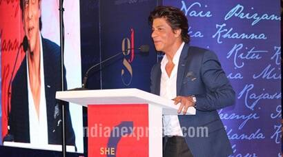 Shah Rukh Khan, Shah Rukh Khan women, SRK, SRK Women comment, SRK book launch, Nita Ambani, Mukesh Ambani, Anant Ambani, Entertainment