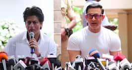 Shahrukh and Aamir Khan Wishes EidMubarak