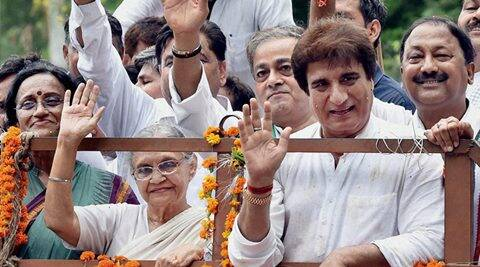 Sheila Dikshit, UP CM candidate Sheila Dikshit, Congress CM Candidate Sheila Dikshit, Congress in UP, UP elections 2017, UP elections, Raj Babbar, Lucknow, Lucknow news, India news,