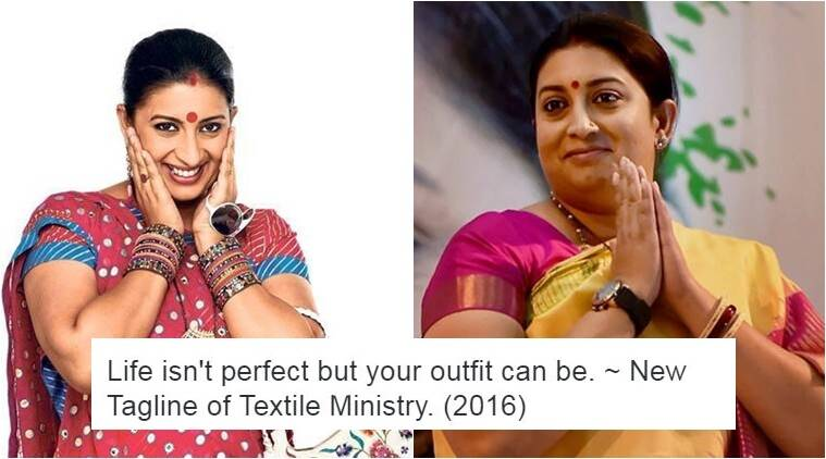 Smriti Irani is the new Textile minister and the joke is on cloth