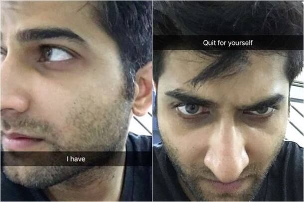 You'll think twice before smoking after reading this guy's Snapchat story
