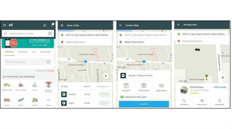 uber, snapdeal, uber snapdeal partnership, book uber via snapdeal, snapdeal app, uber cabs, uber app, book uber, technology, technology news
