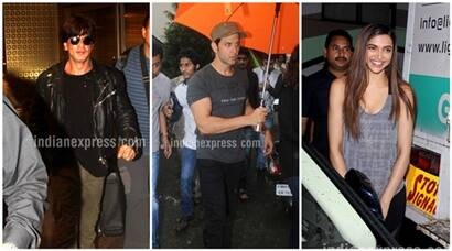 Shah Rukh Khan, Hrithik Roshan, Deepika Padukone busy with shooting despite heavy rains, see pics