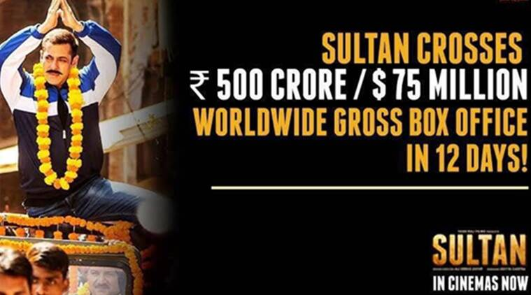 Salman khan s sultan earns rs 500 crore in total but won t beat aamir khan s pk the indian express - Indian movies box office records ...