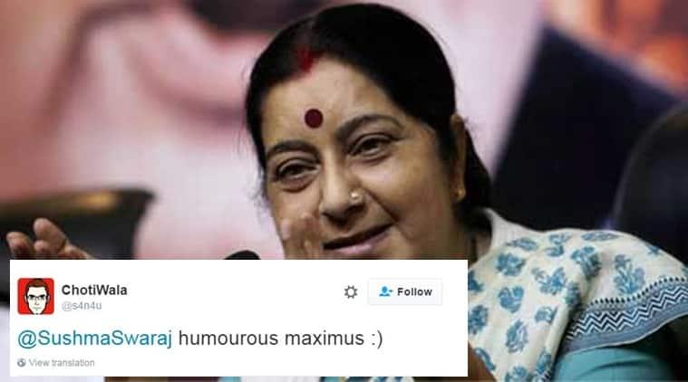 Sushma Swaraj's sense of humour for the win!