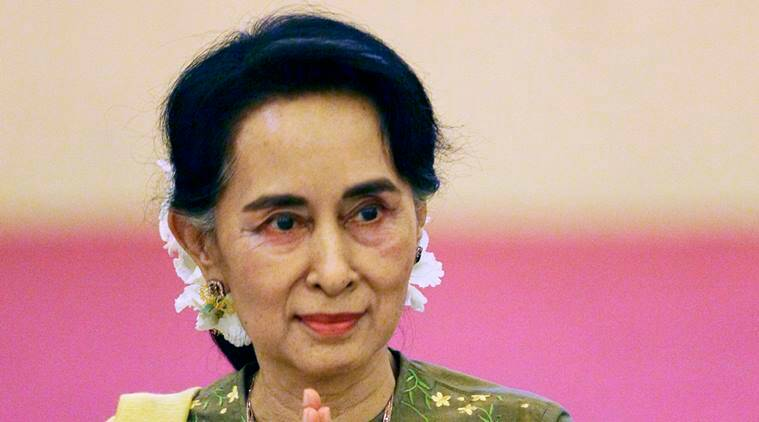 aung san suu kyi, myanmar foreign minister, myanmar state counsellor, india, v k singh, external affairs minister, india myanmar relations, india news, latest news, myanmar news