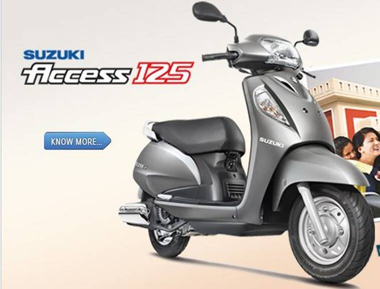 suzuki launches new variant of its scooter access 125 the indian express. Black Bedroom Furniture Sets. Home Design Ideas