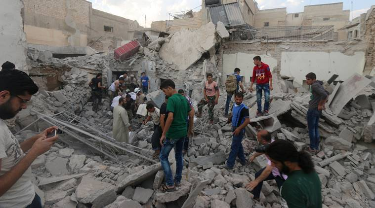 Syria airstrikes, Syria air raids, Syria, Syrian Observatory for Human Rights, Al-Boulil air raids, Deir Ezzor air raids, news, world news, Syria news, international news, latest news, MiG warplane, Syria airstrike civilian deaths, Syria air raids civilians killed