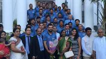 Indian Cricket team pictures, Indian cricket team high commission pictures, Indian High commission west Indies, India cricket team photos, India vs West Indies, Ind vs WI, WI vs Ind, Virat Kohli, Anil Kumble, Indian team, West Indies team, spirts news, sports, cricket news, Cricket