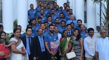 India, West Indies cricket teams attend High Commission event, see photos