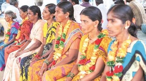 telangana, telangana protest, anti reservoir protest, hunger strike, telangana hunger strike, women on hunger strike, hyderabad protest, indian express news, india news