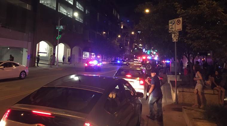 Texas shooting: US police officials warned people to stay away from downtown Austin. Image credit: @doritosr