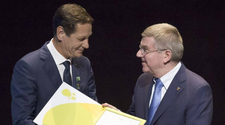 Germany's Olympic champion described Thomas Bach as problem in fight against doping. (Source: AP)