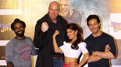 Tiger Shroff, Jacqueline Fernandez, Nathan Jones launch A Flying Jatt trailer, see pics