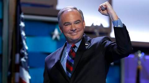 hillary clinton, tim kaine, tim kaine vp, democrat convention, philadelphia convention, world news