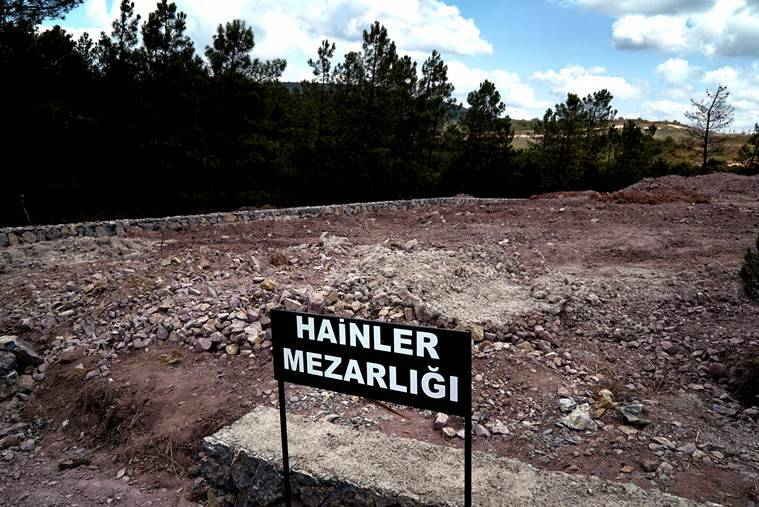 turkey coup, turkey coup grave, coup plotters burial, turkey military grave, traitors cemetery, burial for turkey coup plotters, turkey news, erdogan turkey coup plotters, world news
