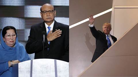 donald trump khizr khan, donald trump ghazala khan, bill clinton, tim kaine, khizr khan donald trump, donald trump muslim soldier, muslim soldier father and trump, trump on muslim soldier, trump attacks clinton, world news