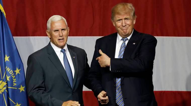 Mike pence, us presidential elections, us elections, donald trump, donald trump lewd comments, trump lewd comments video, trump video, trump controversy, us election campaign, world news, indian express