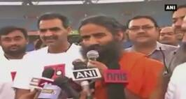 Baba Ramdev Displays Football Skills At Charity Event